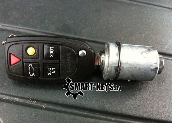 ключ и сердцевина замка зажигания вольво s80